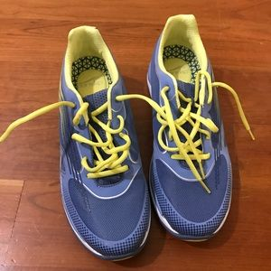 Dansko blue with yellow sneakers. Size 41 US 11